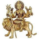 White Whale Brass Hindu Goddess Shri Durga MATA Idol Statue Murti