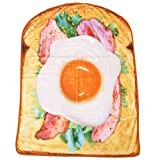 まるでパンみたいな[ひざ掛け 毛布]ふわふわ ブランケット/ベーコンレタスエッグ