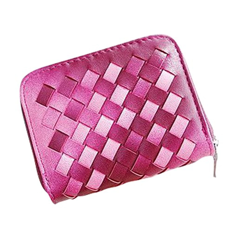 財布 レディース 財布 PUレザー 手乗り財布 小さい財布 人気 大容量 かわいい 四ツ目網 ラウンドファスナー