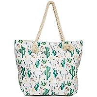 Llama Beach Shoulder Tote Bag - Great Weekender Travel Bag - Many Colors to Choose from