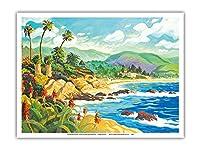 ラグナビーチとの愛 - カリフォルニア - シーサイドオーシャンビュー - オリジナルの水彩画からのもの によって作成された ロビン アルトマン - アートポスター - 23cm x 31cm