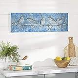 Deco 79 壁の装飾、長さ32インチ x 幅2インチ x 高さ10インチ、ブルー
