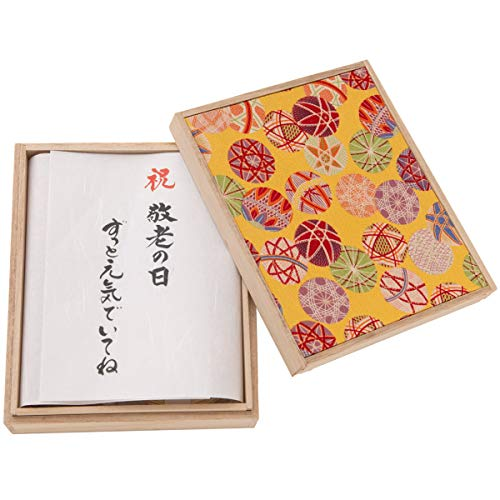 (赤ちゃんまーけっと) 敬老の日 プレゼント ギフト okuru 紅白うどん 手毬 桐箱入り 450g