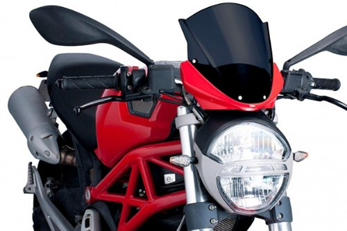 Puig 5650F RACING-SCREEN 【DARK SMOKE】 DUCATI MONSTER1100/796/696 プーチ スクリーン カウル オートバイ バイク パーツ