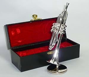 飾り物 ミニチュア楽器 トランペット 1/6サイズ シルバー