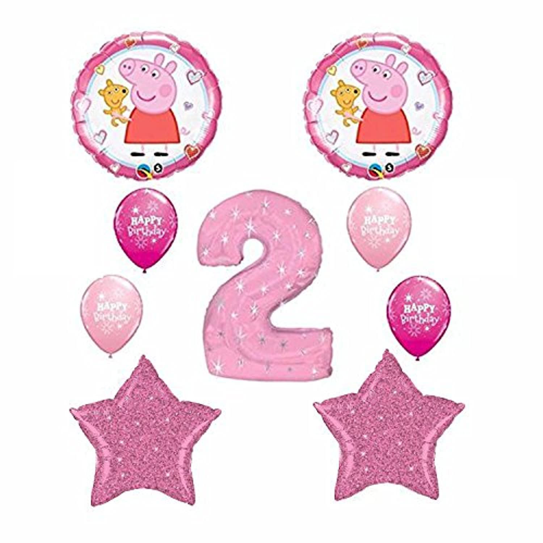 Peppa Pig 2nd Happy Birthday Balloon Bouquet