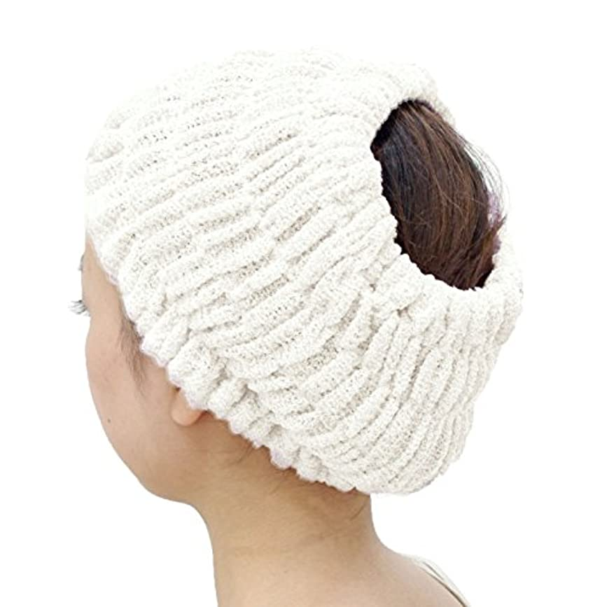 オカ(OKA) プリスベイス エピ 乾きやすいバスヘアターバン ホワイト フリーサイズ PLYS base epi(ターバン ヘアバンド 髪留め)