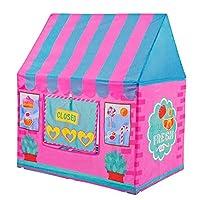 Yihiro キッズテント 女の子おもちゃハウス 玩具収納 秘密基地 知育玩具 遊び小屋 (ピンク)