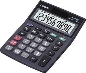 カシオ スタンダード電卓 時間・税計算 ミニジャストタイプ 10桁 MW-10A-BK-N