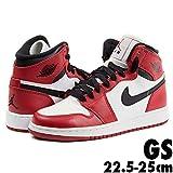 箱無し JORDAN ジョーダン Nike Air Jordan 1 Retro High OG GS CHICAGO エアジョーダン JORDAN レディース 22.5-25cm 575441-101 ホワイト×ブラック / 23.5cm