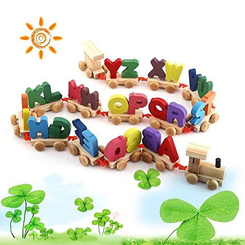 電車ごっこ クルマごっこ 木のおもちゃ 知育玩具 幼児 パズル 車 赤ちゃん 木製 機関車 電車 トレイン 列車 積み木 英語 ローマ字 組み立て