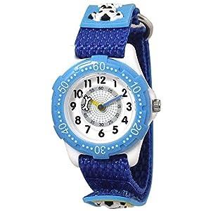 [クレファー]CREPHA 腕時計 こどもウォッチ イヌ ナイロンベルト 3気圧防水 ブルー BAK-4118-BL ボーイズ