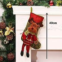 子供のための新年のお菓子ギフトバッグクリスマスストッキング服のサンタ靴下クリスマスギフト - - ベル&ソリベル - クリスマスデコレーション - クリスマスストッキングクリスマスギフト(26)