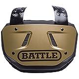 BATTLE バックプレート プロテクター アメフト フットボール (ゴールド)