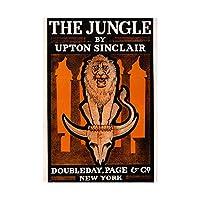 Ad Drawing Book Cover Novel Jungle Upton Sinclair Lion Skull Art Wall Art Print 図本カバージャングルライオン頭蓋骨壁