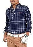 【コモンゴルフ】 COMON GOLF +3℃の蓄熱 スタイリッシュ 長袖 ポロシャツ CG-LP551 XXL ネイビー