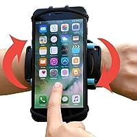 6c7b45b3a8 VUP+ スポーツ アームバンド リスト 装着 軽量 使いやすい 回転式 iPhone / Xperia など各種 スマホ (4〜5.5インチ)  に対応 (ブラック)