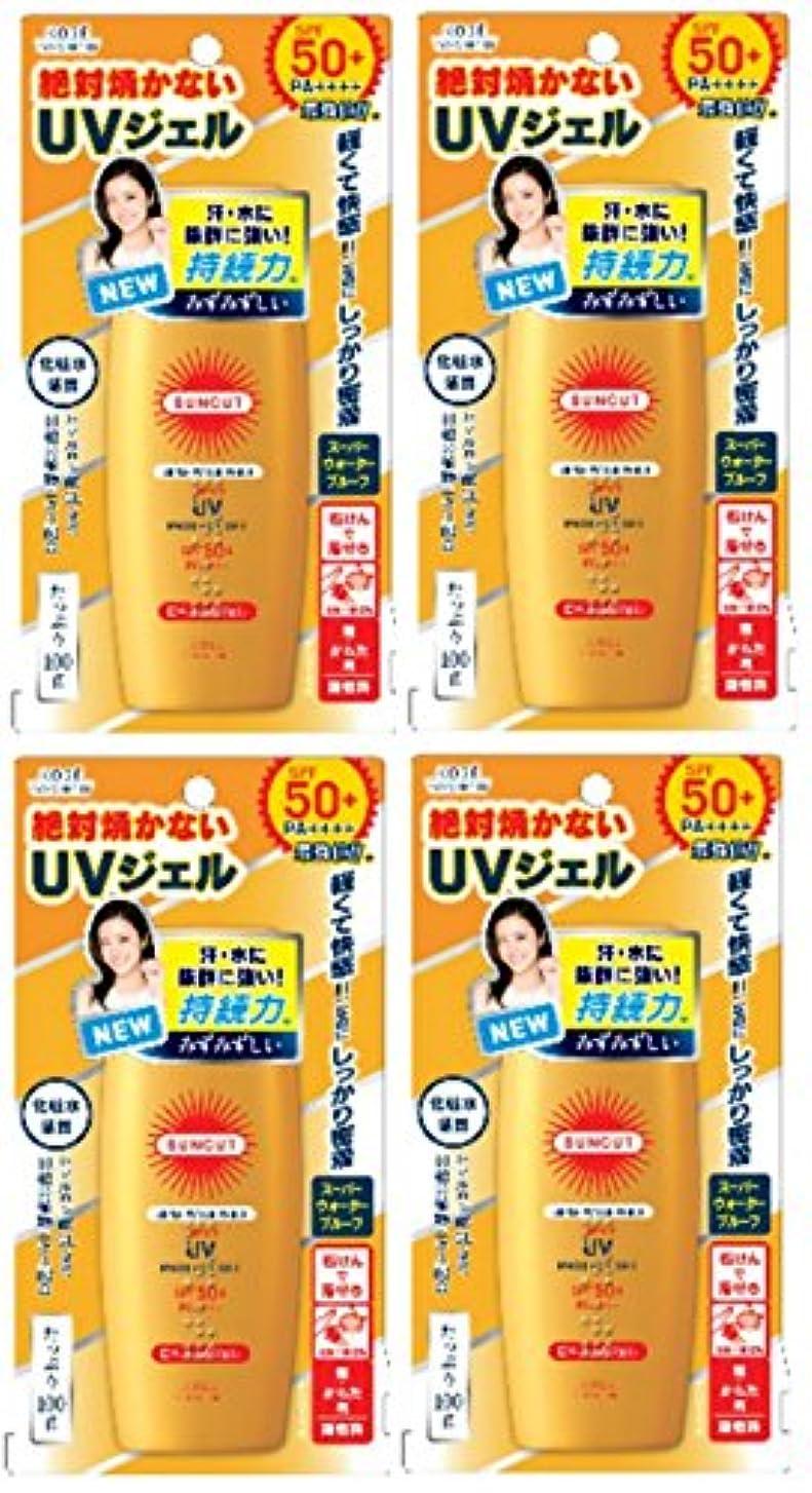 【まとめ買い】KOSE サンカットR 日焼け止めジェル (スーパーウォータープルーフ)×4個