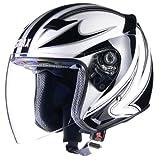 リード工業 バイクヘルメット ジェット STRAX SJ-9 ホワイト L 59~60cm未満