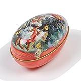 イースターエッグ 卵型 缶ケース 復活祭 アンティーク プレゼント (B.うさぎのカップル)