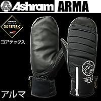アシュラム アシュラム スノーボード ミトングローブ ゴアテックス  ARMA アルマ ブラック Ashram glove 17-18  2018 メンズ スノーボード グローブ【C1】