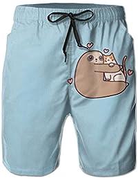 メンズスロスと猫の愛 ビーチパンツ 水着 ハーフスイムウェアサーフパンツ ボードショーツ 水陸両用 吸汗速乾