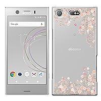 [Breeze-正規品] iPhone ・ スマホケース ポリカーボネイト [透明-Pink]エクスペリア エックスゼットワン コンパクト XPERIA XZ1 Compact SO-02K ケース so-02k xperia xz1 compact カバー 液晶保護フィルム付 [SO02K] [SO02K1810DJ]