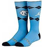 (Jordan)ジョーダン College Crew Socks UNC North Carolina Crew Socks カレッジ ソックス (23-25cm, 水色紺) [並行輸入品]