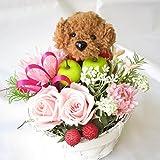 花 プレゼント 誕生日プレゼント女性 プリザーブドフラワー フラワーアレンジメント フラワーギフト (ブラウン)