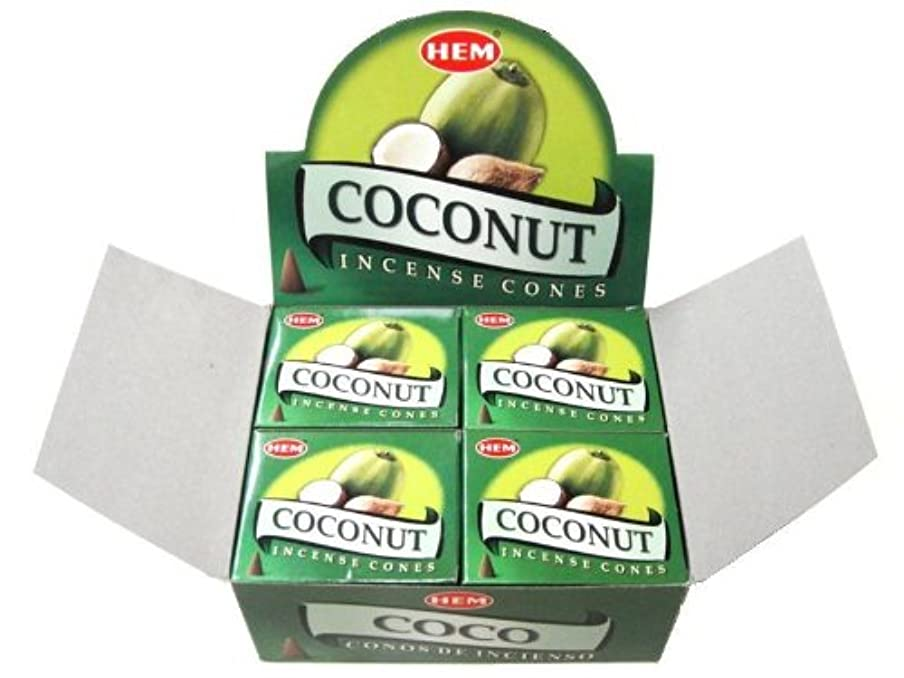 掘るヘクタールツーリストHEM ココナッツ/お香/コーンタイプ/1ケース(12箱入り)
