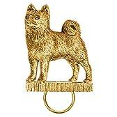 柴犬 (シバ イヌ) イギリス製 22ct ゴールドプレート アート ドッグ スペクタクルホルダー コレクション (メガネホルダー)