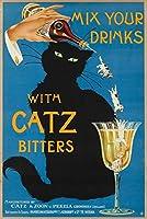 Catz BittersヴィンテージポスターC。1940 24 x 36 Giclee Print LANT-61932-24x36