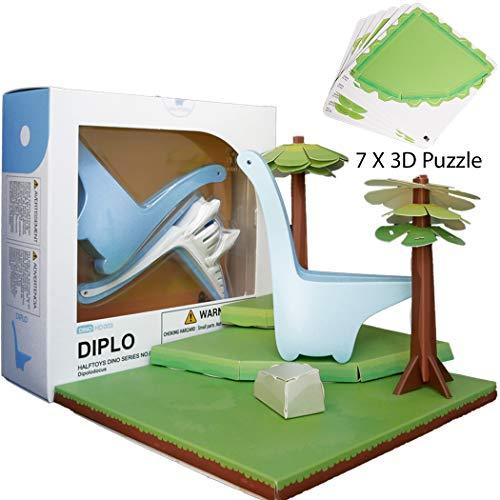HALFTOYS ジュラシックパークワールド 恐竜玩具 クリエイティブ教育ビルディングパズル 磁気ディプロモデルセット 男の子 女の子 子供 恐竜シリーズ HD003