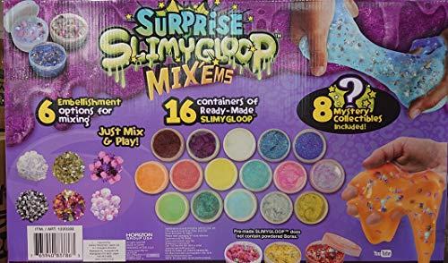 スライム サプライズ 16種類のスライムと8種類のおもちゃ付...