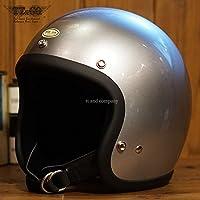 スーパーマグナム スタンダード シルバーメタリック 乗車用 SG/PSC/DOT規格品 ジェットヘルメット