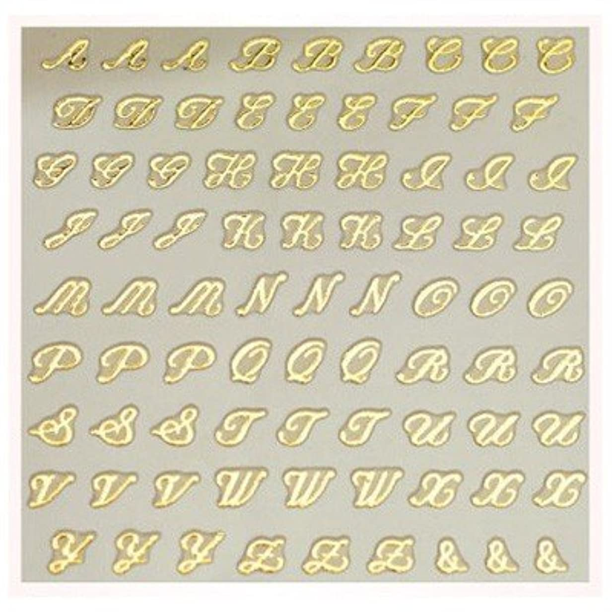 感度五十海嶺文字ネイルシール アルファベット イニシャル ピアドラ pieadra×BLC ネイルシール ブローチイニシャル 小 ゴールド