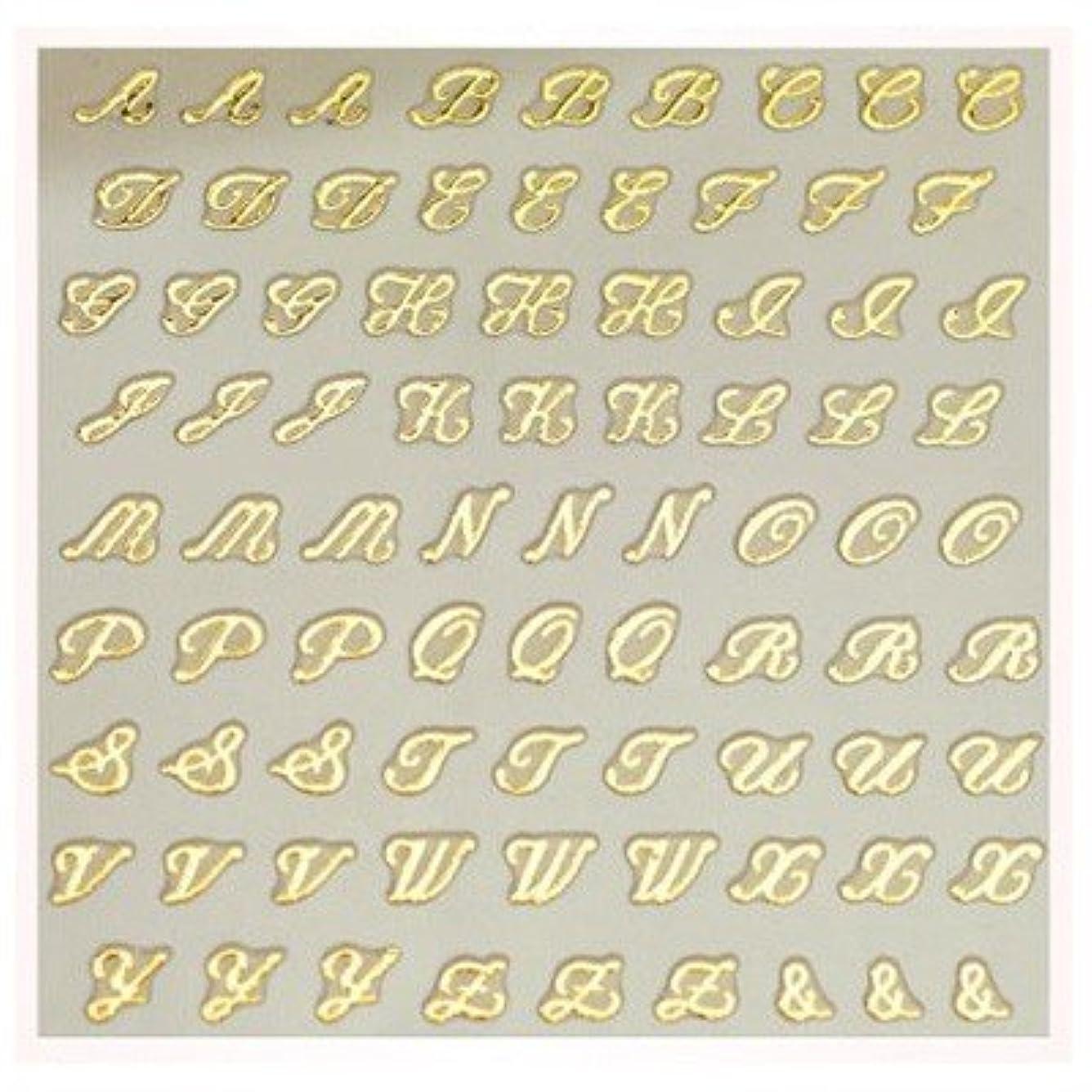 重要センサー祖父母を訪問文字ネイルシール アルファベット イニシャル ピアドラ pieadra×BLC ネイルシール ブローチイニシャル 小 ゴールド