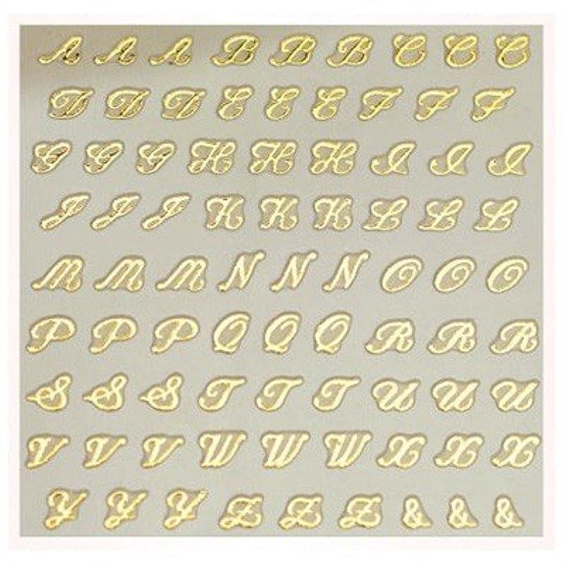 ポジション川教会文字ネイルシール アルファベット イニシャル ピアドラ pieadra×BLC ネイルシール ブローチイニシャル 小 ゴールド