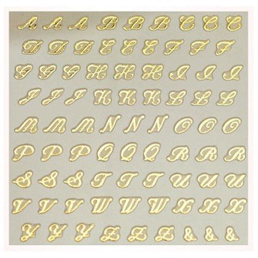 布面積吹きさらし文字ネイルシール アルファベット イニシャル ピアドラ pieadra×BLC ネイルシール ブローチイニシャル 小 ゴールド
