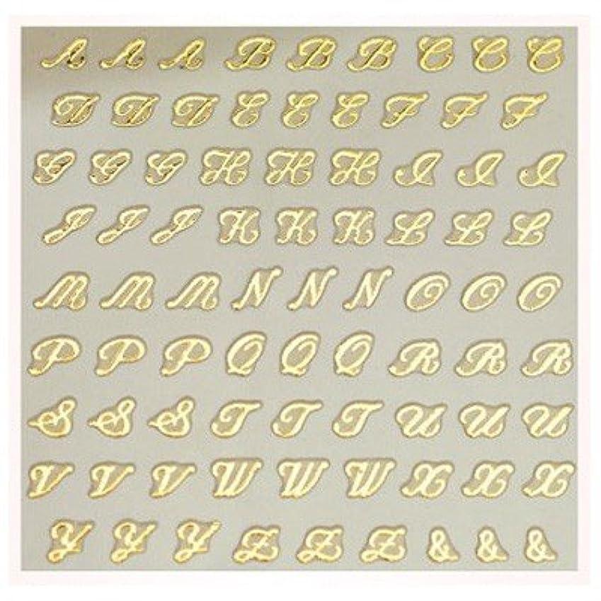 できる六月聖歌文字ネイルシール アルファベット イニシャル ピアドラ pieadra×BLC ネイルシール ブローチイニシャル 小 ゴールド