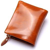 LDUNDUN-BAG, 2019 Leather Men's Leather Wallet Ladies Clutch Bag Purse Bag 2018 New Zipper (Color : Brown, Size : S)