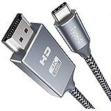 USB C to HDMI Cable 3M,Snowkids hdmi to USB c 4K 60Hz 2K 1080P Thunderbolt 3 Compatible