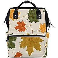 ママバッグ マザーズバッグ リュックサック ハンドバッグ 旅行用 紅葉柄 緑から赤になるまで ファション