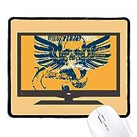 ブルーオレンジ頭翼グラフィティストリート マウスパッド・ノンスリップゴムパッドのゲーム事務所