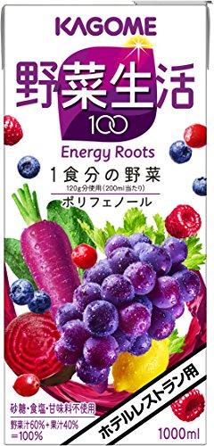 カゴメ 野菜生活100 エナジールーツ ホテルレストラン用 1000ml×6本