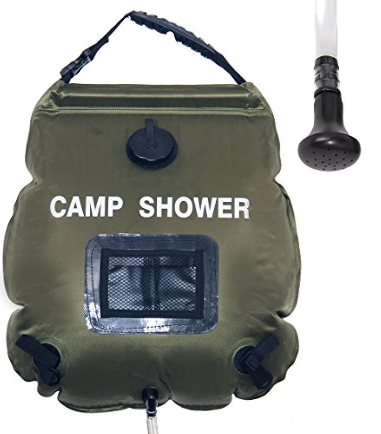 兄弟愛蒸発する体細胞ポータブルソーラーキャンプシャワーエコフレンドリー快適グリップハンドル、取り外し可能なホースとオン|オフ切り替え可能なシャワーヘッド