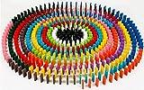 カラー ドミノ 12色 ハラハラ ドキドキ 感動 涙 みんなで 楽しく 遊ぼう 木製 カラフル (360個セット)