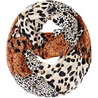 Lerben Womens Retro Soft Chiffon Loop Infinity Scarf Wave Snood Wrap Scarves