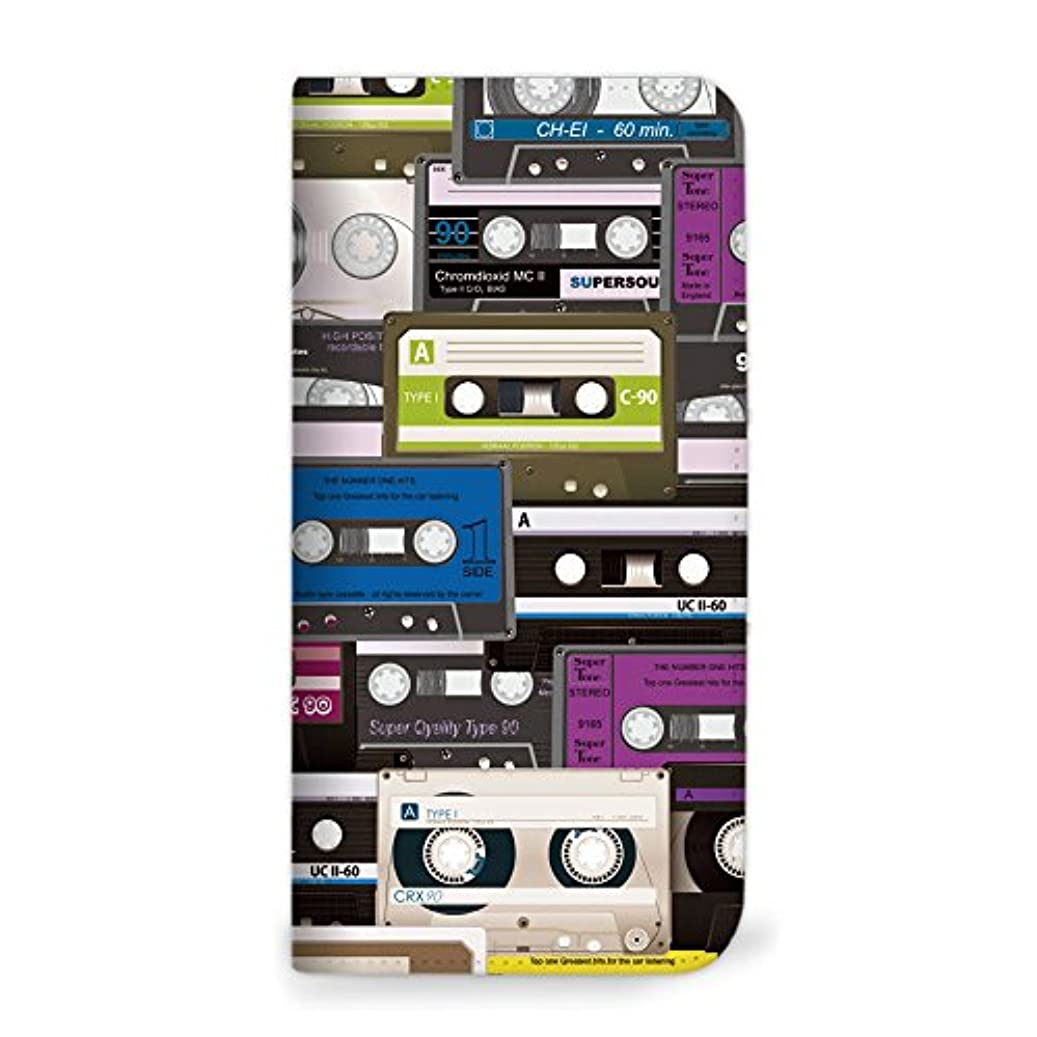 コンドーム振るう紛争mitas Galaxy S8 Plus SCV35 ケース 手帳型 ベルトなし カセット柄 パープル (342) NB-0093-PU/SCV35