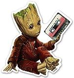 Marvel(マーベル)Guardians of the Galaxy Vol. 2(ガーディアンズ・オブ・ギャラクシー: リミックス) ダイカットステッカーA グルート [インロック]